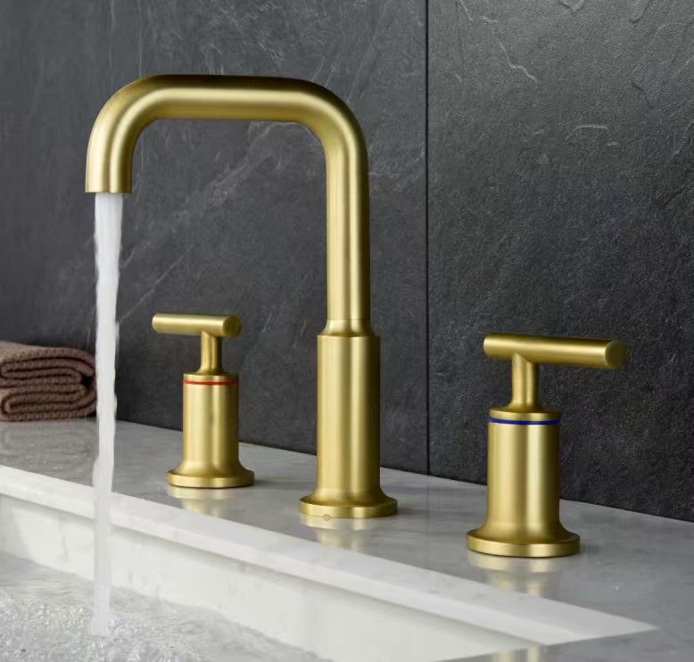 bathroom Basin Faucet Sink Mixer Tap Solid Brass Tap Water Faucet Waterfall Basin Mixer Faucet Black&Brushed Gold black pull leading rotary water tap multifunctional telescopic basin faucet solid brass bathroom basin faucet