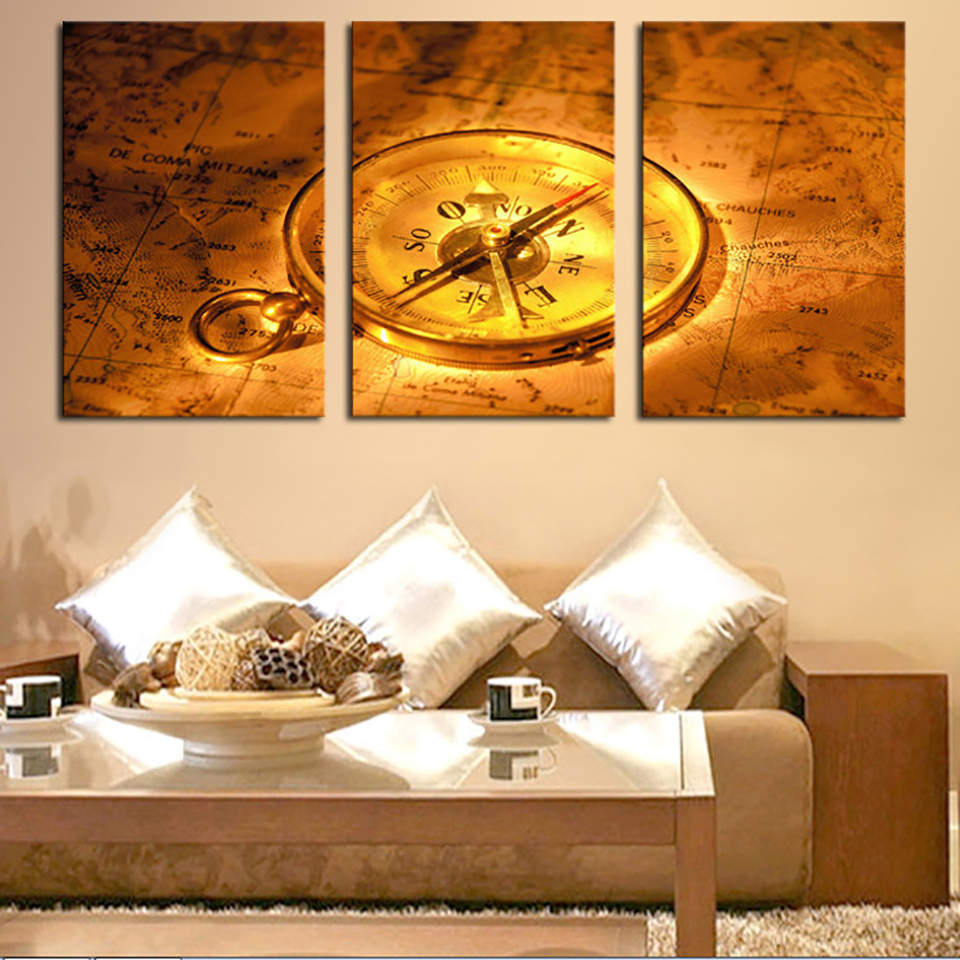 Canvas Painting Wall Art Modular Poster Frame Pictures 3 Panel ...