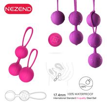 Hot Silicone Kegel Balls Massage Smart Love Ball for Vaginal Tight Exercise Ben Wa Balls Sex Vibrators Sex Toys for Women usb charging female smart weighted female kegel vaginal tight exercise machine vibrators sex toys for women