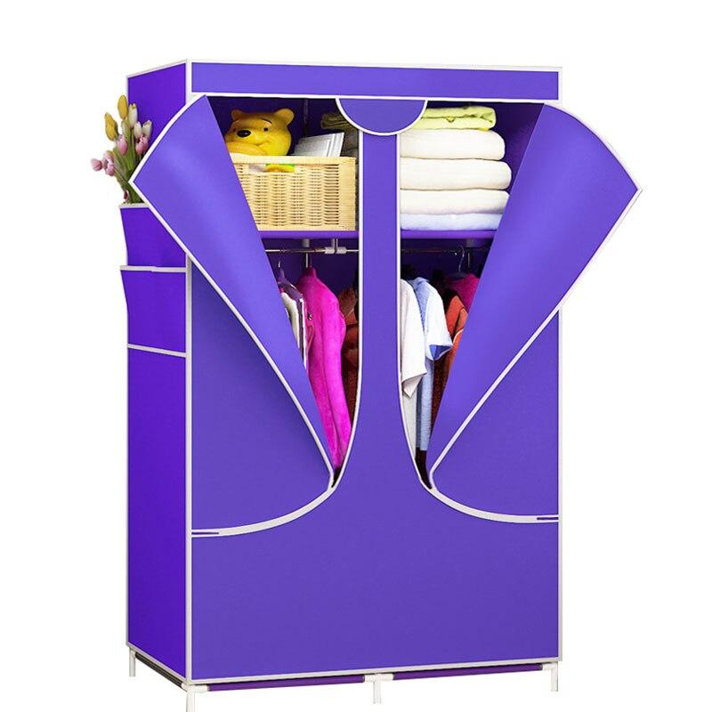 Simples Não-tecido Armário De Armazenamento Armário Roupeiro Pano Dust-proof Dobrável Wardrobe Mobília Do Armário Do Quarto