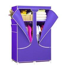 Simples não tecido pano guarda roupa à prova de poeira armário de armazenamento guarda roupa dobrável quarto armário móveis