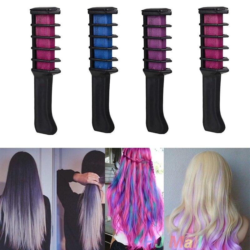semi permanent cheveux couleur craie poudre avec peigne temporaire bleu multicolore colorantchina mainland - Coloration Cheveux Semi Permanente