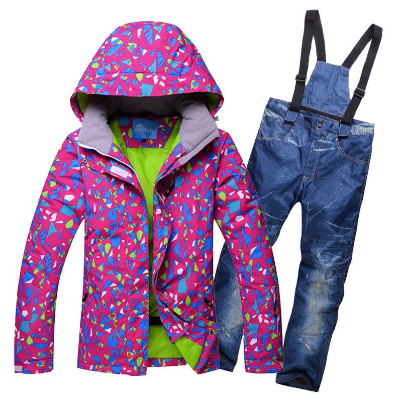 winter ski suits for women outdoor waterpoof snow snowboard jacket and pants set winter sport clothes for female woman ski pants pelliot brand ski pants women winter