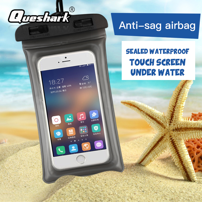 6.3 Inch Floating Airbag Swimming Bag Waterproof Mobile Phone Pouch Cell Phone Case For Swim Diving Surfing Beach Use