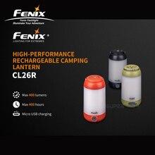 Lanterna de acampamento recarregável de alta performance de fenix cl26r micro usb com 18650 li na bateria livre