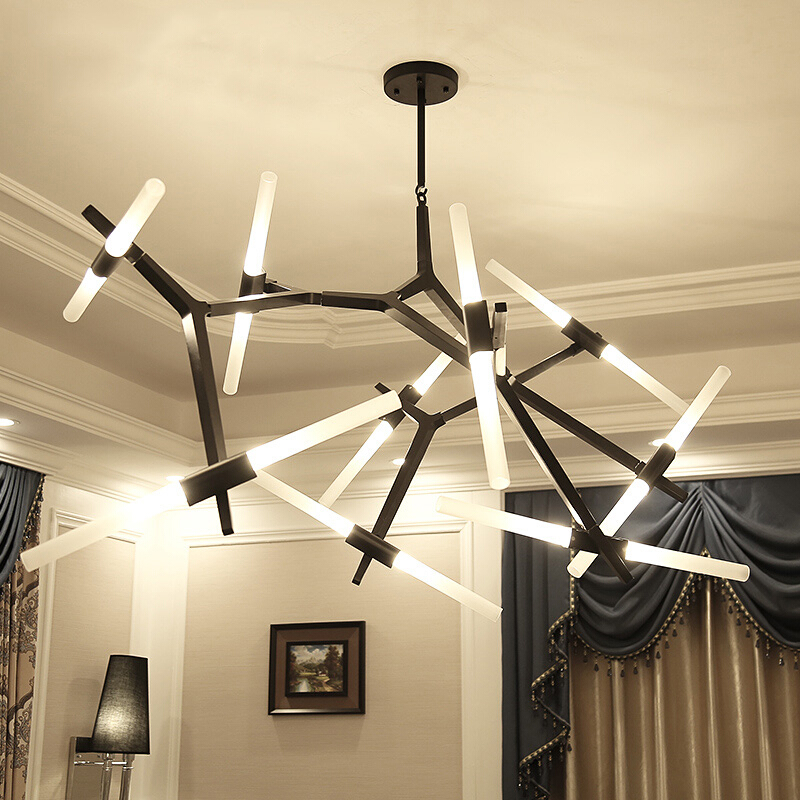Moderne LED lustre Éclairage Pour salle À Manger salon lustre salon moderne En Verre lustre suspension luminaire Lumière Fixt