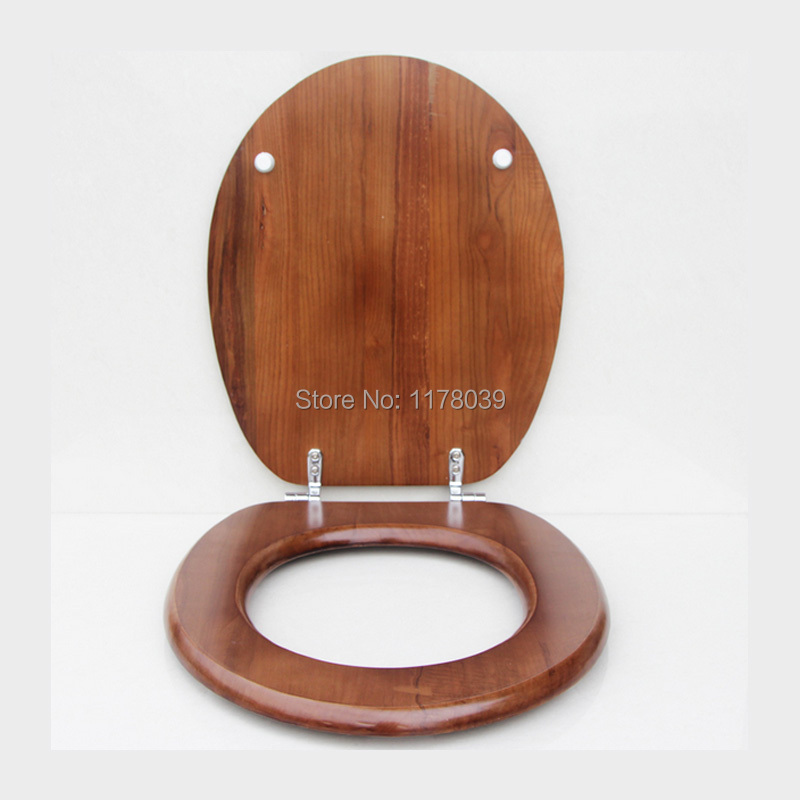 Solid wood O shaped type toilet seats cover,High quality Ordinary buffer toilet seat toilet cover,toilet seats lid parts,J17561