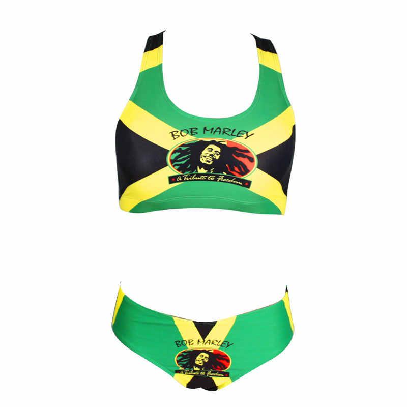 b80e05d9b6 ... Sexy Caribbean Jamaica flag Rasta Two Piece Bikini SWIMSUIT SWIMWEAR  size S M L XL XXL ...