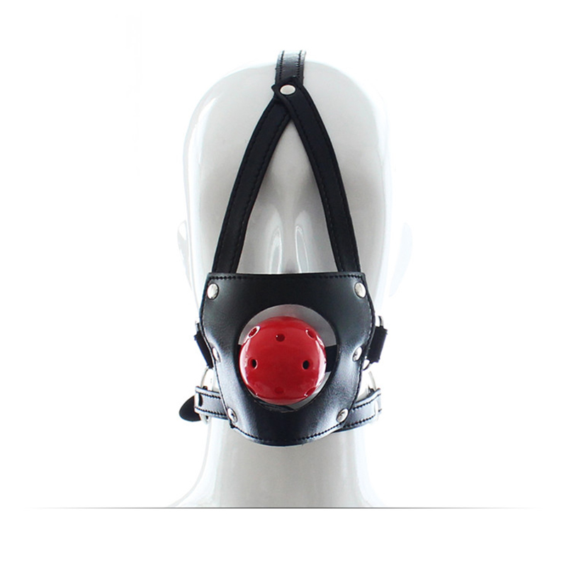 Adult Games Open Mouth Gag Ball For Women Couple Pu Leather Ball Gag Sm Slave Oral