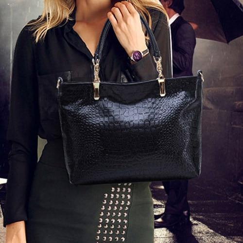 Hot Sale Alligator Three-Piece Composite Bag New Fashion Women Causual Bag