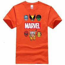 Marvel Short Sleeve T-shirt Men Superhero print t shirt O-neck