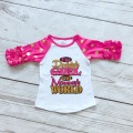 baby girls gold dot half cotton hot pink I'm Daddy's girls and mommy's world boutique cute top shirts raglans clothes ruffles