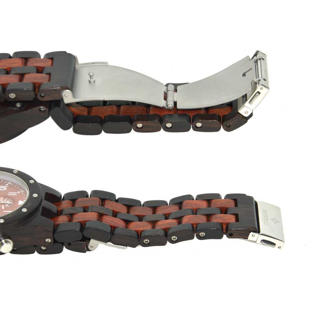 BEWELL Wood Watch Mens Watches Top Brand Luxury Designer Military Watch Quartz Analog Wrist Watch with Chronograph Calendar Date 3