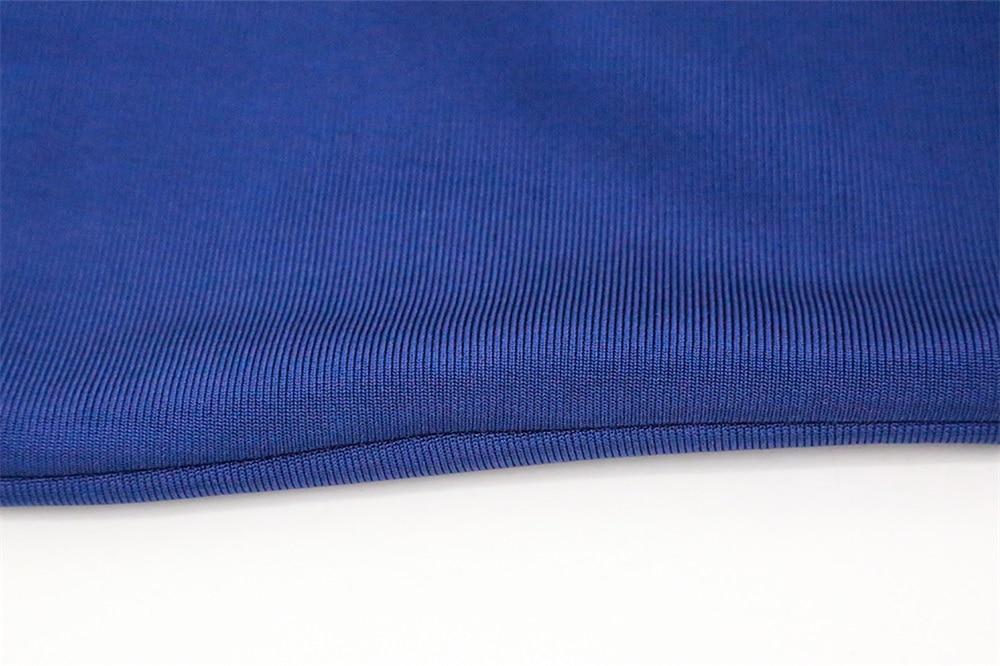Novo Partido Bandage Vestido 2018 das Mulheres Verão Sem Mangas Malha Azul Branco Preto Tornozelo Comprimento Vestidos Bodycon - 5