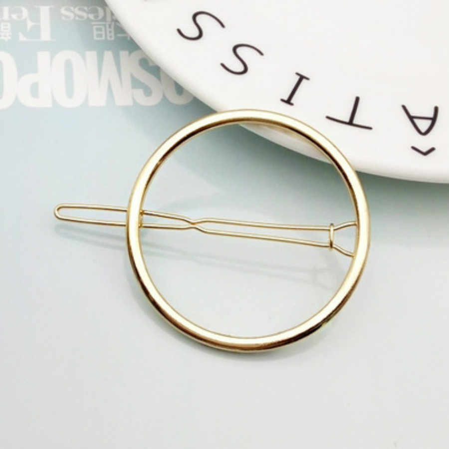 1 Pcs แฟชั่นคลิปคลิปสำหรับผู้หญิง Elegant Design สามเหลี่ยม Moon Lip รอบ Barrette Hairpin Hairpin ผม Pins อุปกรณ์เสริม #02