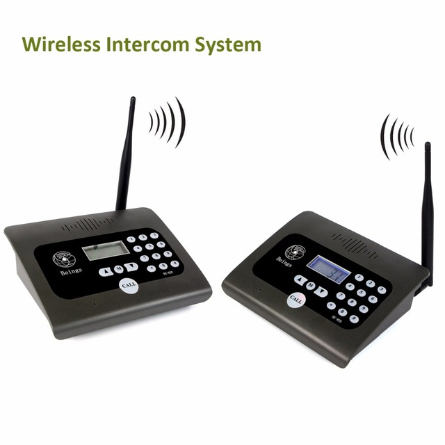 buy 2pcs full duplex indoor wireless voice calling intercom system two way. Black Bedroom Furniture Sets. Home Design Ideas
