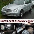 11 pcs X frete grátis Livre de Erros LED Interior Luz Kit Pacote para mercedes w203 acessórios 2001-2007