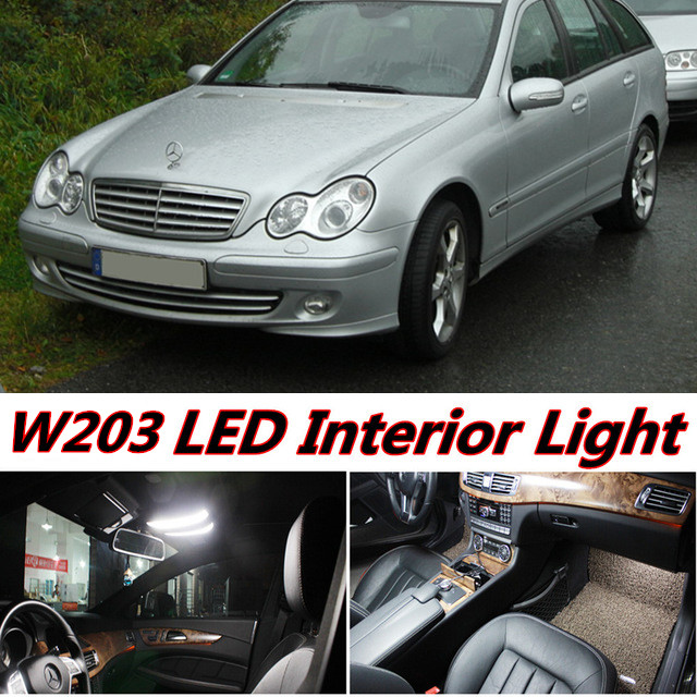 11pcs X free shipping Error Free LED Interior Light Kit Package for mercedes w203 accessories 2001-2007 12pcs error free led bulb interior light kit for mercedes for mercedes benz m class w163 ml320 ml350 ml430 ml500 ml55 amg 98 05