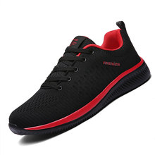 цена на Men Mesh Running Shoes Lace-up Men Shoes Lightweight Comfortable Breathable Walking Jogging Sneakers Summer Outdoor Sports Shoes