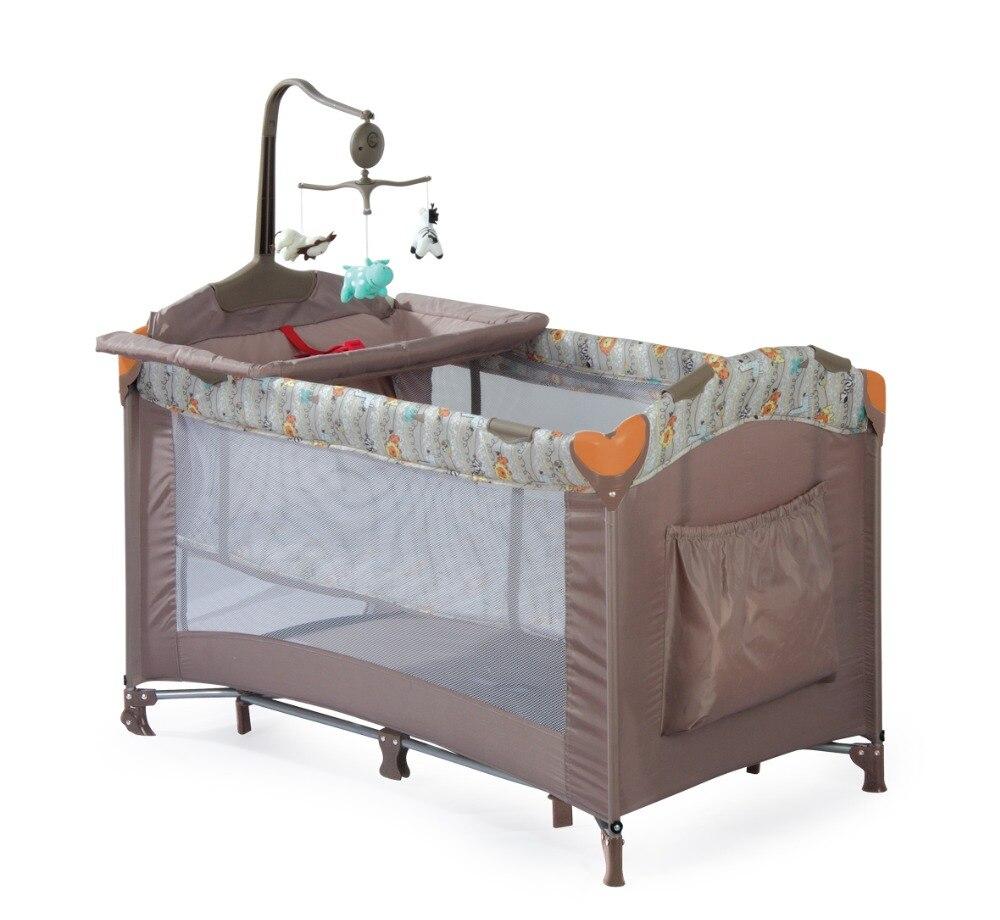 Berceau européen Portable pliant nouveau lit bébé multi-fonction lit de jeu pour enfants nouveau lit de voyage bébé nouveauté berceau - 4