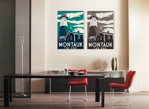 Hight Quality Nordic Modern Urban landmark Canvas Painting Cartoon Scenery Art Wall Art Home Decoration No Frame in Painting Calligraphy from Home Garden