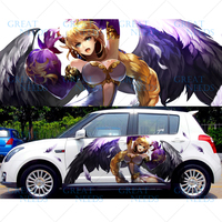 DIY Custom Car Cartoon Stickers Beautiful Angel Wings Demon Vinyl Sticker Paint Protection Film Car Funny