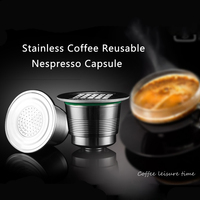 Free Shipping STAINLESS STEEL Metal Capsule Compatible For Nespresso Machine Refillable Reusable Capsule Gift
