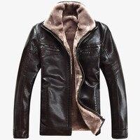 Бесплатная доставка Горячая Распродажа Зимняя Толстая овечья кожа кожаная одежда Повседневная стекающаяся кожаная куртка мужская одежда