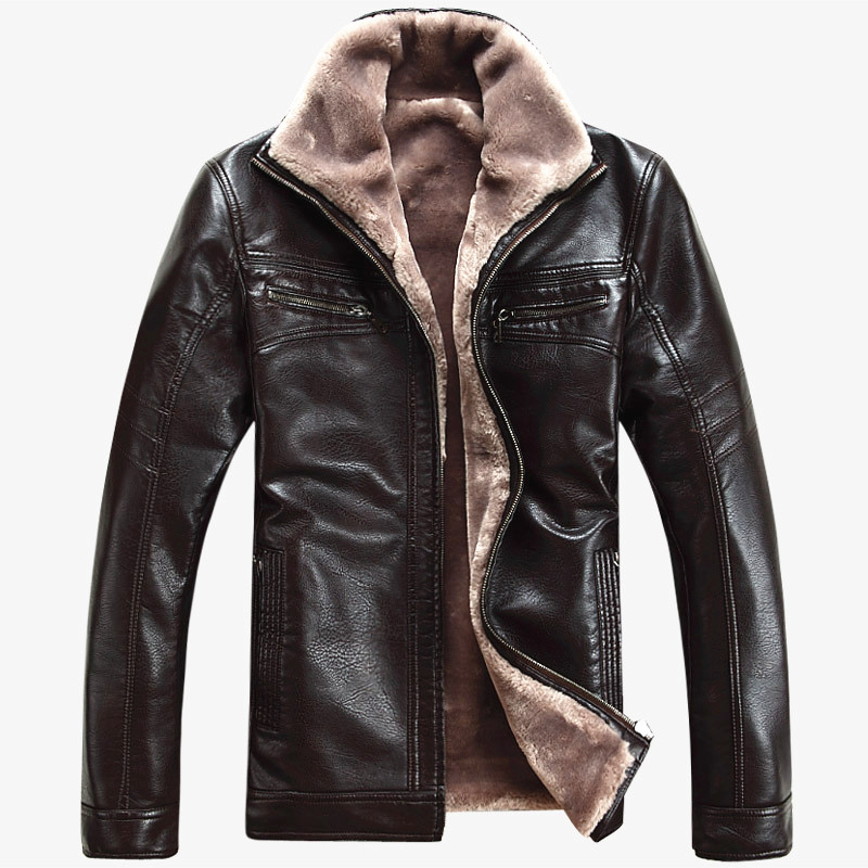 Free Shipping Hot Sale Winter Thick Sheep Leather Garment Casual - Men's Clothing