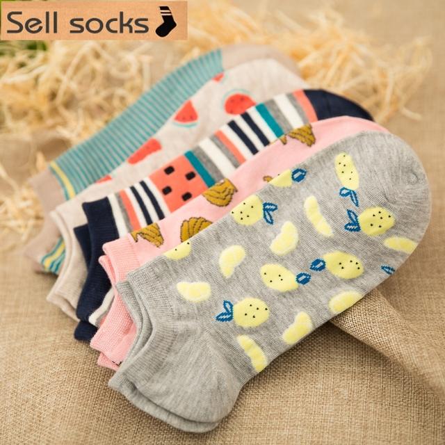 PONOŽKY 5vzorov BAVLNA Summer sock 5patterns Cotton