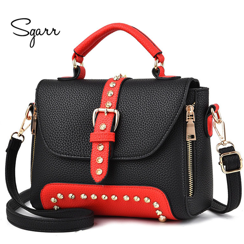 SGARR Shoulder Bag For Women High Quality Leather Brand Handbag Small Purse Black Wine Red More Color New Arrival Female Bags patent leather handbag shoulder bag for women