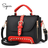 SGARR Shoulder Bag For Women High Quality Leather Brand Handbag Small Purse Black Wine Red More Color New Arrival Female Bags