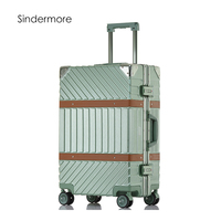 Sindermore Aluminum Frame And Pc Carry On Hardside Rolling Spinner Trollry Traveling Travel Luggage Suitcase For Girls Women Men