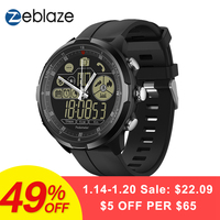New Zeblaze VIBE 4 Hybrid Flagship Rugged Smartwatch 50M Waterproof 33 month Standby Time 24h All Weather Monitoring Smart Watch