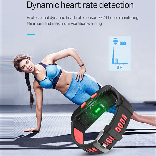 LEMDIOE Smart Wristband Support Independent GPS Track Record Temperature Altitude Heart Rate Smart Band Fitness Tracker Bracelet