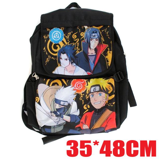 Anime Naruto Backpack Students Large Printing Waterproof Bag