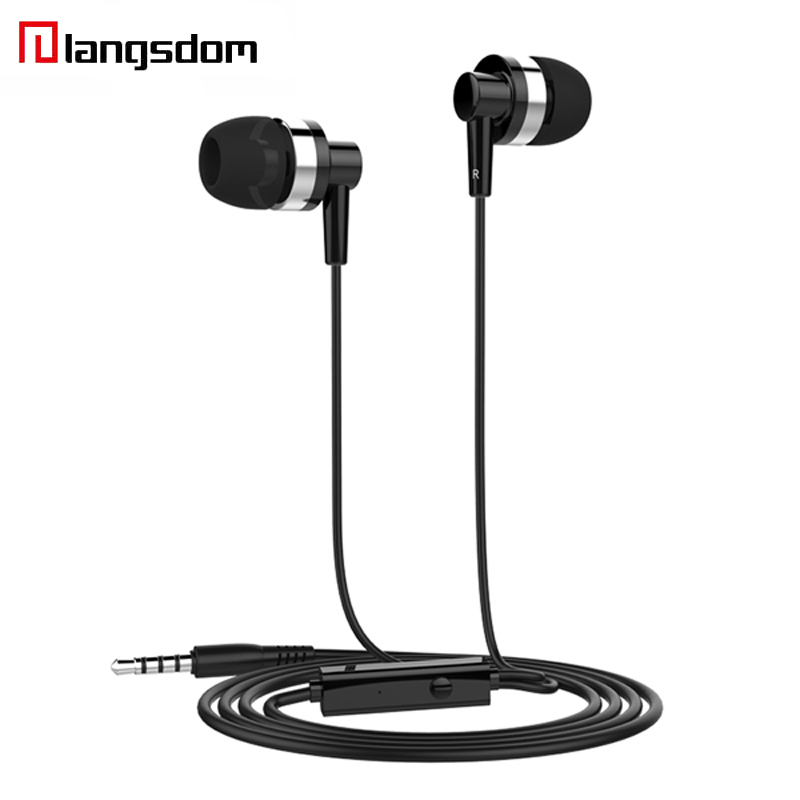 Langsdom JD89 Earphone For Phone Langsdom Round Line 3.5MM Wired Earphones Stereo HIFI In-ear Earbuds For Samsung iPhone Xiaomi