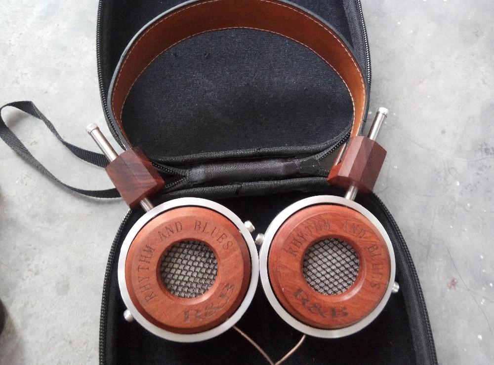 Redwood wood high fidelity music headphone headset rockstar