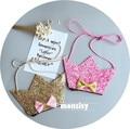 Fashion kids girls bags 2017 Kawaii Baby girls crossbody bags cute coin purses glitter crown bow child girls messenger bags