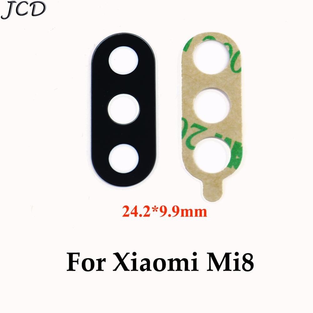 JCD 2pcs For Xiaomi Mi 8 Camera Glass Lens Back Rear Camera Glass Lens With Glue For Xiaomi Mi8 Replacement Repair Spare Parts