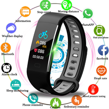 LIGE 2019 New Men Women Sports Smart Bracelet Fitness Tracker Pedometer OLED Color Touch Screen Wristband PK mi band 3+Box