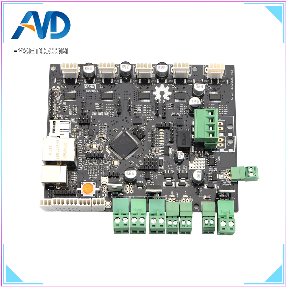 30pcs Smoothieboard 5XC  V1.1 ARM Open Source Motherboard 32 Bit LPC1769 Cortex-M3 Control Board Support Ethernet For CNC