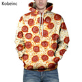 Cute Salami Pizza Printing Sweatshirt All Match S-3XL Couple Hoodies Big Size Drawstring Long Sleeve Moletom Lovers Sweatshirts
