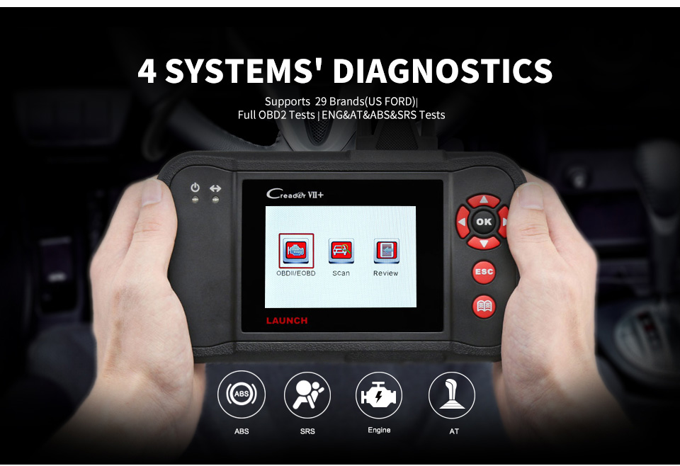 Image 3 - Launch Creader VII+ VII plus Creader CRP123 Diagnostic Tool OBD2 Scanner OBDII Diesel Tools Auto Code Reader ABS Launch Scanner-in Code Readers & Scan Tools from Automobiles & Motorcycles