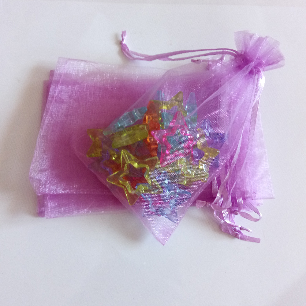 Red Snow Blue Organza Bag 100pcs Jewelry Packaging Display Jewelry Gift Bags Wed Drawstring Bag Woman Gift Storage Display Bags