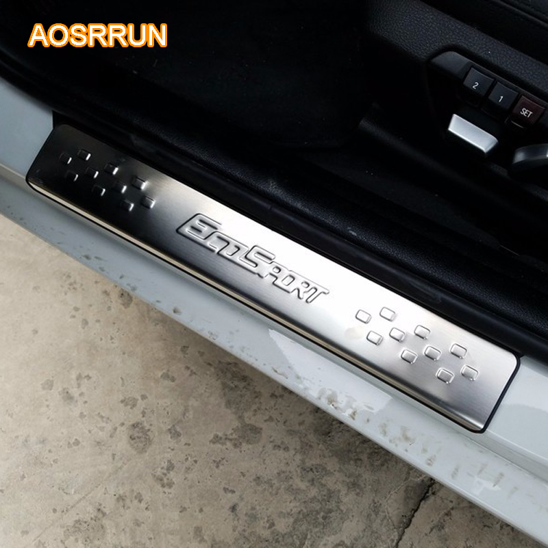 aosrrun stainless steel car accessories door sill scuff plate car styles for ford ecosport 2013. Black Bedroom Furniture Sets. Home Design Ideas