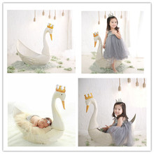 Newborn photography props cute white swan props gifts lovely baby props studio photo props 0 6m baby angel photo props white wings with headware infant newborn baby white photo props