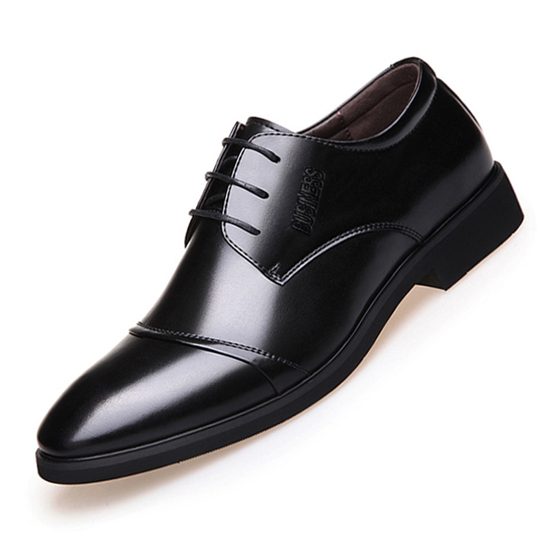 2017 Fashion Men's Dress Shoes Pointed toe Lace up Oxfords for Man leather oxford men business shoes Office Formal Shoe X0501106 new brush oxford shoes for men slip on pointed toe fringe oxfords men shoes leather causal formal men dress shoes zapatos hombre