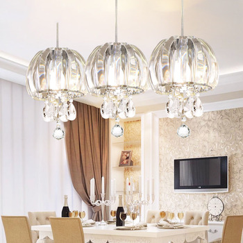 Free Pendant lamp modern fashion k9 crystal chandelier for dining room kitchen room k9 luxury lamp LED hanging lighting fixture