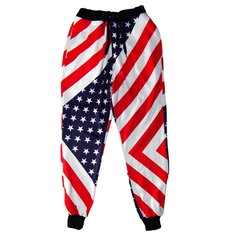 cca7ed4ee83b2 Men Pants New Stylish Loose Casual Trousers 3D Printing Star Stripe Pattern  Hip Hop Plus Size S-5XL Hot Comfortable Sweatpants